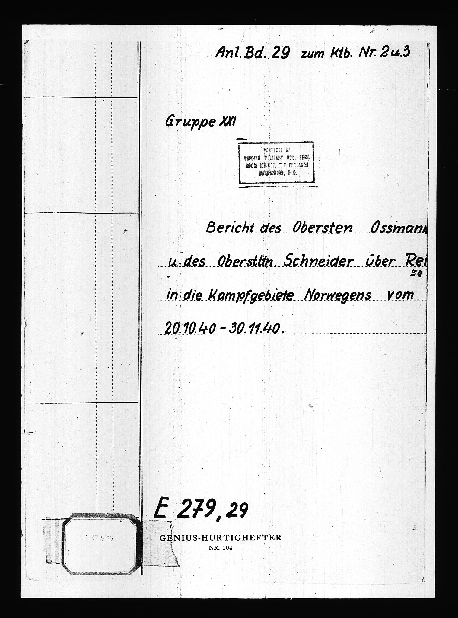 Scanned material: RA, Documents Section, VL0084: Amerikansk