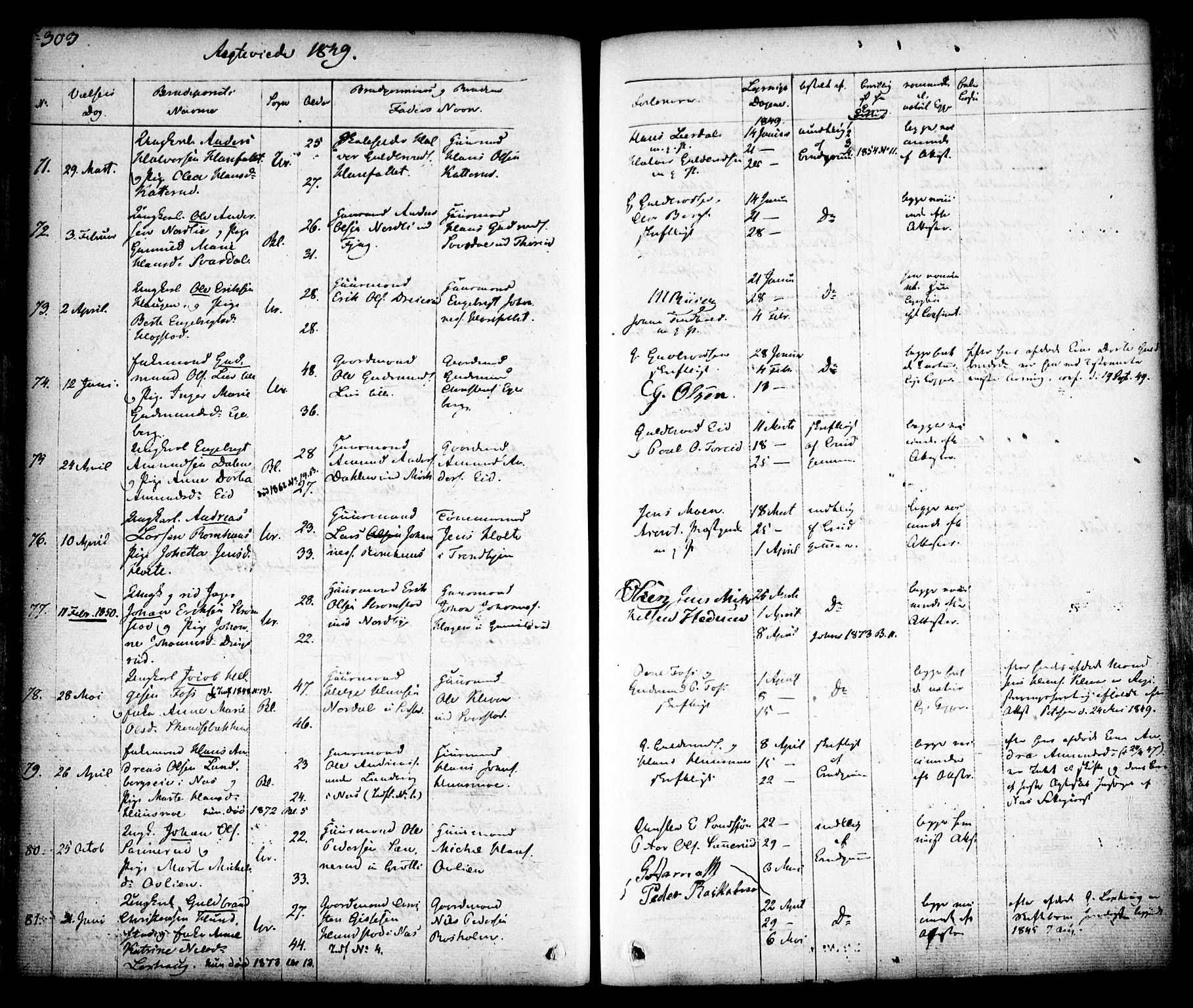 Side 303 av Ministerialbok for Aurskog nr. I 6 (1829-1853)